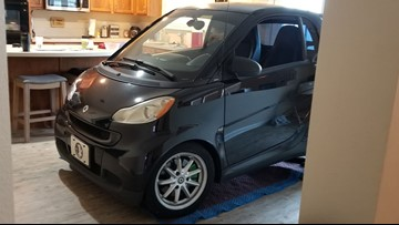 Florida man parks smart car in kitchen to save it from Dorian