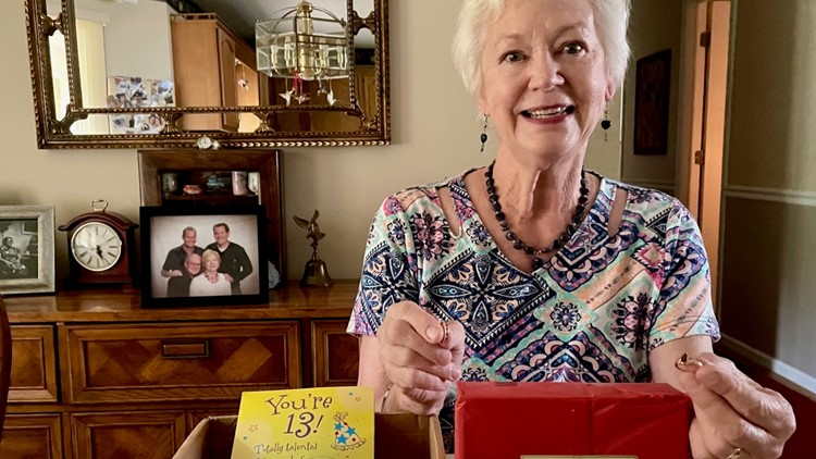 A package for her family goes on a 7-month cross country journey before ending up back home in North Carolina