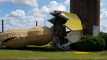 'World's Largest Peanut' in Georgia damaged by Hurricane Michael