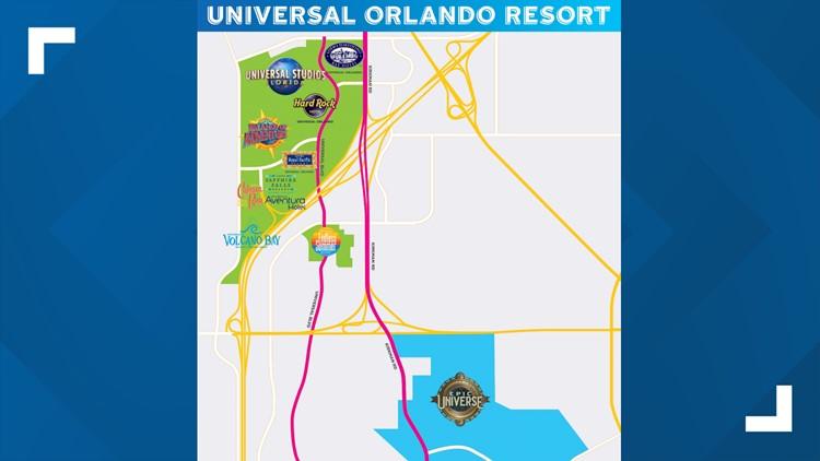 Universal Epic Universe theme park map I-4 080119
