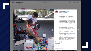 Florida high school student gives free haircuts to the homeless