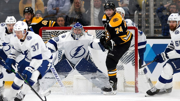 Bruins fall to Lightning in Game 2