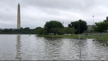 Heavy rain slams DMV, causes flooding, road closures, chaos