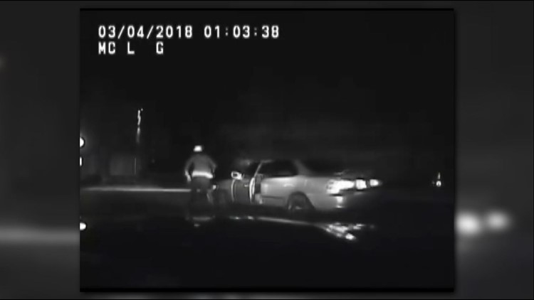 VIDEO: Va. man hit by his own car while trying to escape police