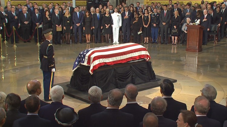 LIVE BLOG: Mourners honor John McCain as he lies in state at the U.S. Capitol