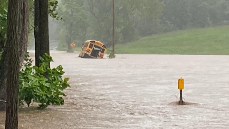 FCPS Superintendent apologizes after students are rescued from school bus stuck on flooded bridge