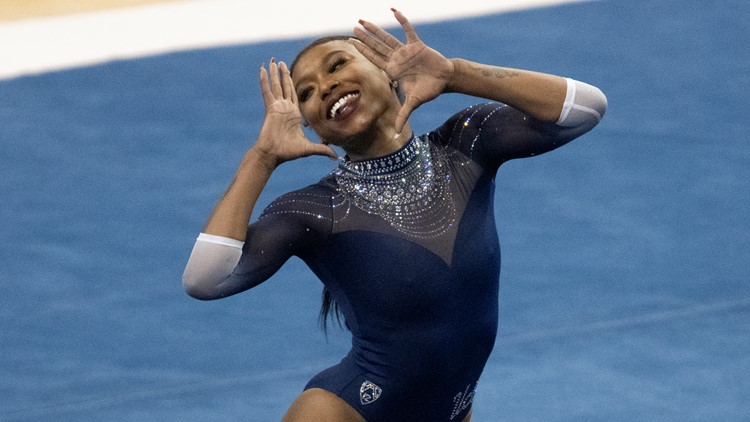 Nia Dennis's viral floor routine highlights 'Black excellence'   Get Uplifted