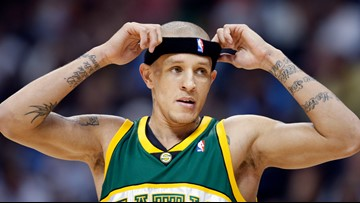 How did former Boston Celtic Delonte West end up struggling in Maryland?