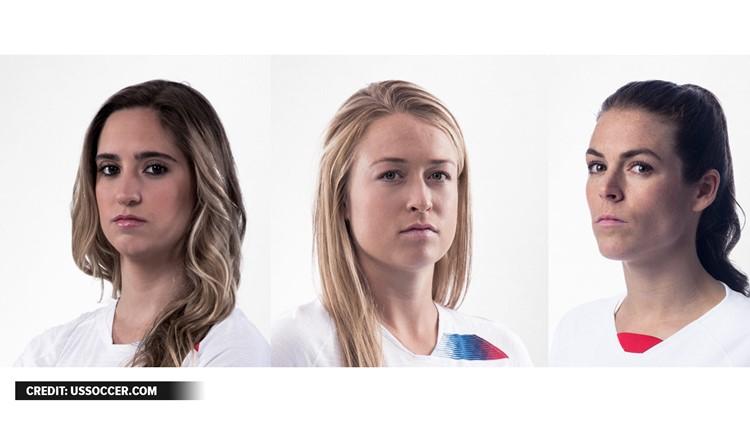 Morgan Brian, Emily Sonnett, Kelly O'Hara Georgia's participants in the 2019 World Cup