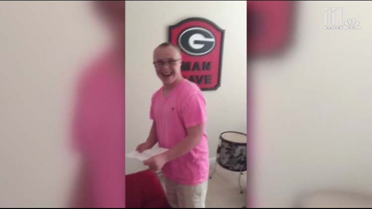 WATCH: The sweet moment young man with Down Syndrome learns he's accepted to UGA