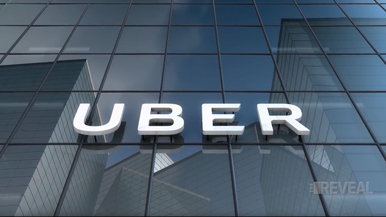 Uber logo on building