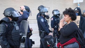 'Can you pray for us too?' Woman said police officer asked her to pray for them at GR protest